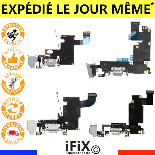CONNECTEUR DE CHARGE LIGHTNING IPHONE 6 /6PLUS /6S /6SPLUS NAPPE DOCK JACK MICRO