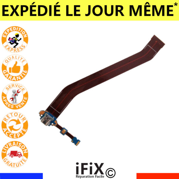 NAPPE FLEX CONNECTEUR DE CHARGE GALAXY TAB 3 10.1 USB SAMSUNG GT P5200 P5210 R1