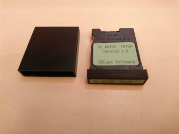 QL MATHS TUTOR - ESCAPE SOFTWARE - MICRODRIVE CARTRIDGE - SINCLAIR QL - 198?