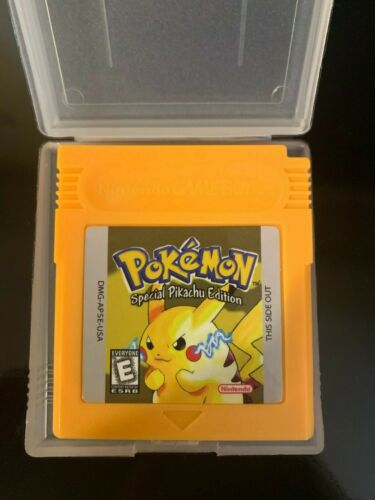 Pokemon Yellow Version GBC Gameboy Color  Reproduction FAST FREE SHIPS FROM USA