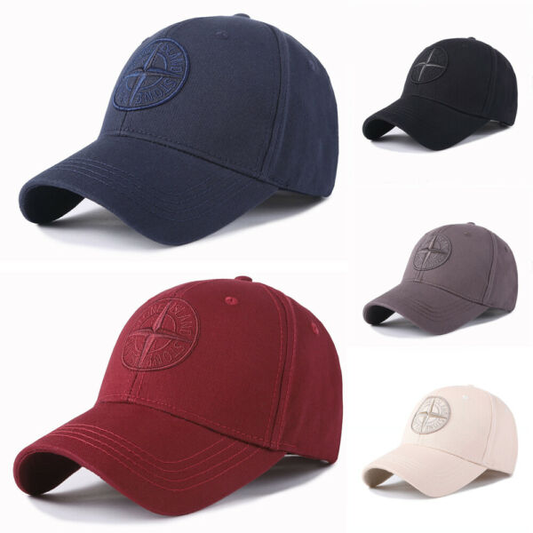 New Mens Stone Island Logo Baseball Hat Cap Adjustable Cap Hat Unisex Golf Cap