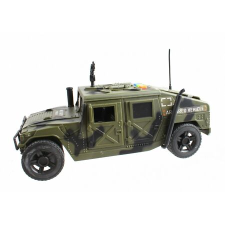 img-BOYS TOY ARMY ARMORED MILITARY VEHICLE PATROL CAR GUNNER SOUNDS LIGHTS