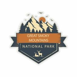 Great Smoky Mountains National Park Sticker, National Park Sticker, National Par