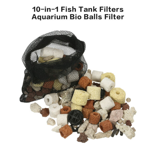 Filtres pour aquarium 10 en 1 Filtration Aquarium Bio-ball P2J1
