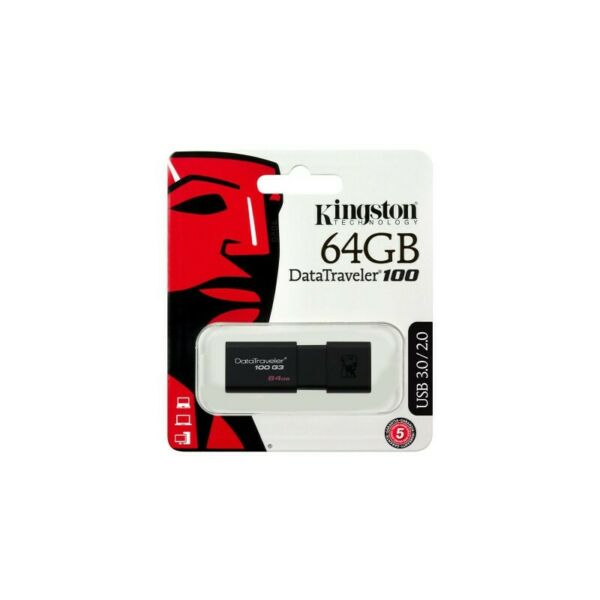 PENDRIVE KINGSTON USB 3.0 Chiavetta da 64GB DT100G3/64GB