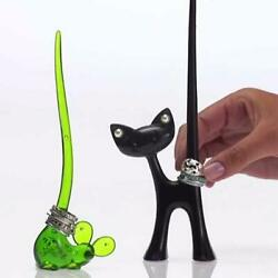 Koziol RING HOLDER Stand Cat Fun Gift Idea made in Germany New
