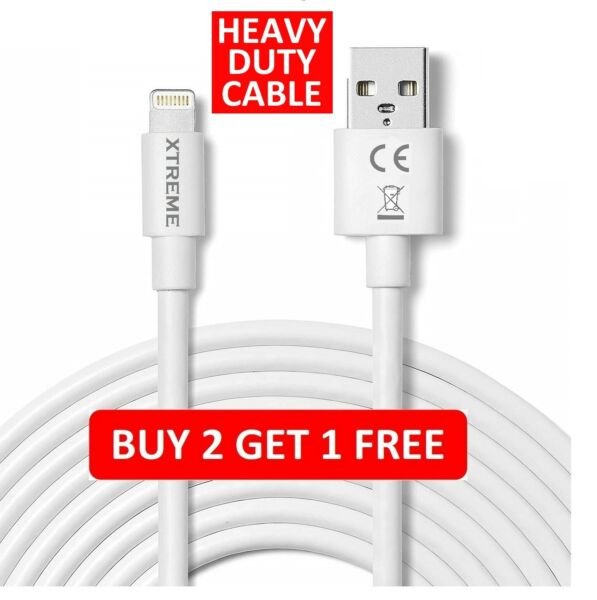 USB Lightning Charger & Data Sync Cable Lead For Apple iPhone 6 7 8 X XR 11 Pro