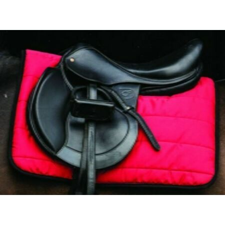img-Horseware Rambo Pad Thick Padding Work PolyPad Cushion Saddlepad Red/Black/Navy