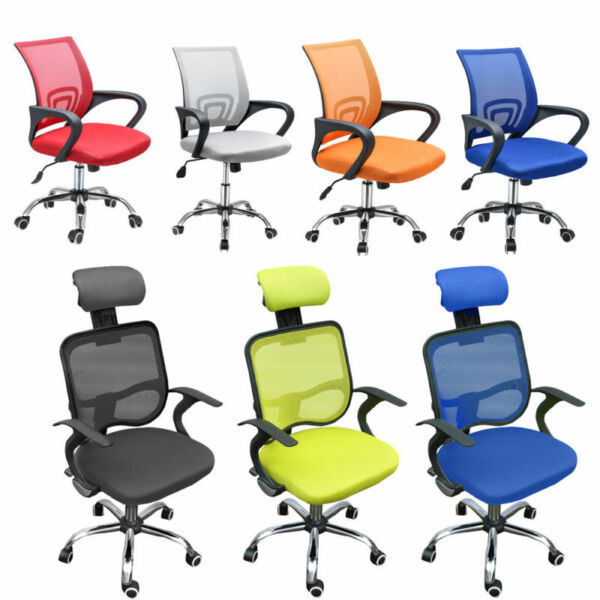 Adjustable Mesh Office Chair Executive Guest Swivel Computer Desk Chair Mid-Back