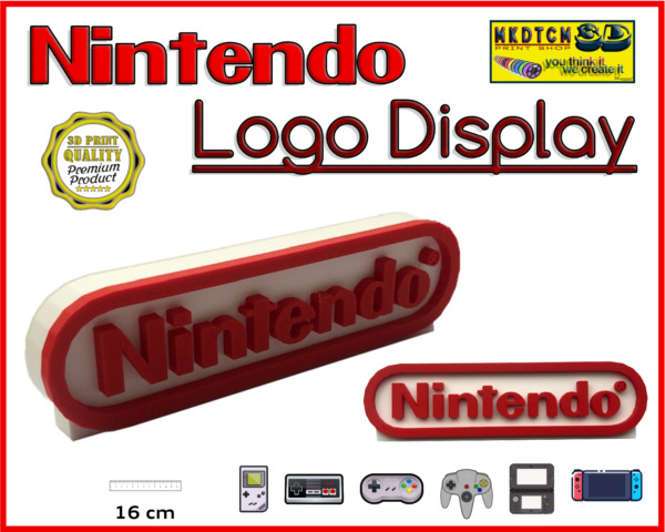 Nintendo Logo Stand Sign Décoration Collection Nintendo Display 3D Video Game