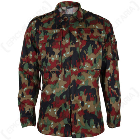 img-Original Swiss M83 Camo Field Jacket - Surplus Alpentarn Camouflage Coat Parka