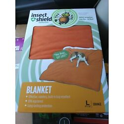 New INSECT SHIELD  BLANKET WITH  BUILT IN BUG REPELLENT FOR PET OR HUMAN