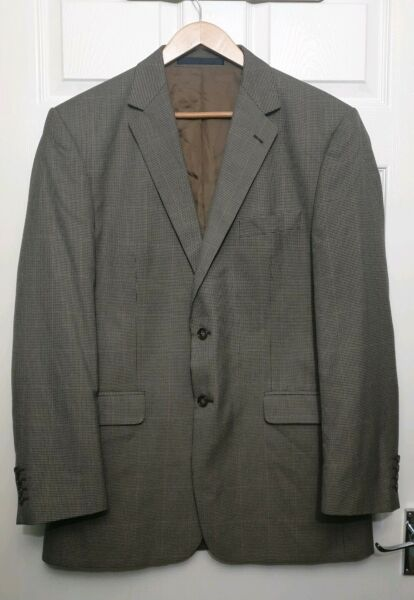 Marks&Spencer Tailoring Classic Brown Check Jacket Chest 42