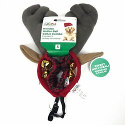 Outward Hound Holiday Antler Bell Collar Combo Pack Christmas Dogs Size Small
