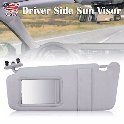Sun Visor Left Driver Side Gray Fits For 2007-11 Toyota Camry Without Sunroof