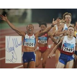KELLY HOLMES Signed 14x11 Photo OLYMPIC Champion GOLD MEDALIST COA