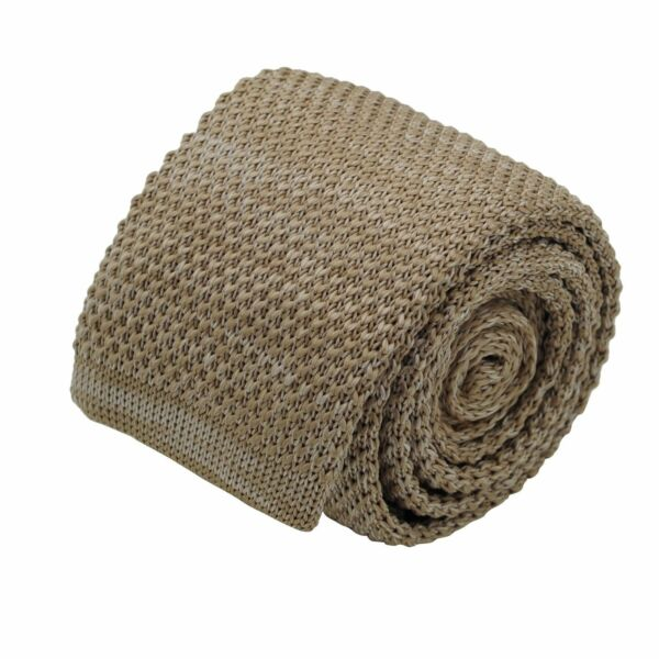 Cravate tricot homme chinée. Marron tabac - Ecravate