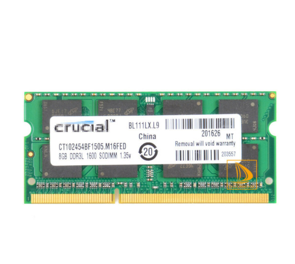 FOR Crucial 8GB 2Rx8 PC3L-12800S SODIMM  RAM Laptop Memory DDR3L 1600Mhz PC12800