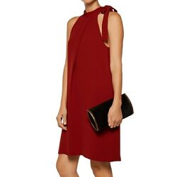 NWT $315 Theory Tie Neck Espere Admiral Crepe Dress