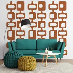 Mid Century Decal, Mid Century Wall Decor Palm Springs, Retro Wall Decal