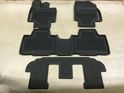 Genuine Toyota New 2020 Highlander Rubber All Weather Floor Liners/Mats 4 Piece
