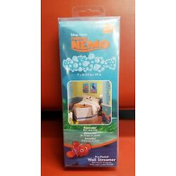 Disney Pixar Finding Nemo Pre-Pasted Bubbles Wall Streamers  Fully Removable!