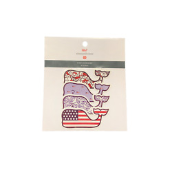Vineyard Vines Target Whale Vinyl Stickers Red White & Blue combo pack (S, M, L)