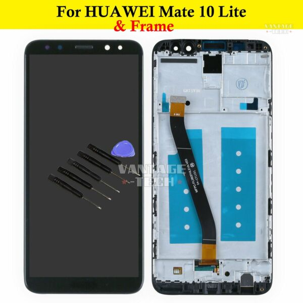 DISPLAY LCD TOUCH SCREEN FRAME PER HUAWEI MATE 10 LITE NERO ASSEMBLY DIGITZER