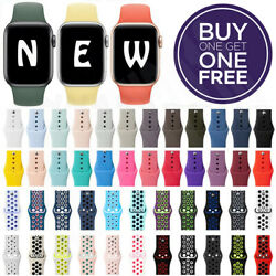 Kyпить Silicone Band Strap For Apple Watch Series 1/2/3/4/5/6/SE Sports 38/42/40/44mm на еВаy.соm