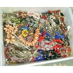 Kyпить Unsearched Jewelry Vintage Now Huge Lot Junk Craft Box 3 FULL POUNDS Piece Part на еВаy.соm