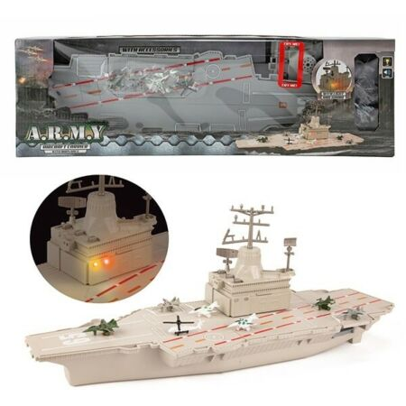 img-ARMY MILITARY AIRCRAFT CARRIER WITH FIGHTER PLANES JETS SOUNDS LIGHTS SHIP