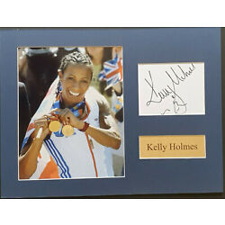 KELLY HOLMES Signed 16x12 Photo OLYMPIC Champion GOLD MEDALIST COA