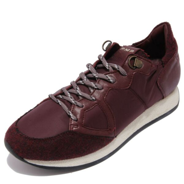 Italie2416AC sneakers uomo PHILIPPE MODEL MONACO bordeaux shoes men