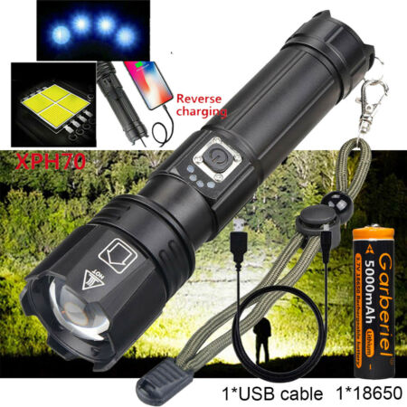 img-Tactical 90000LM xhp70 Ultra Bright LED 18650 Rechargeable Torch Flashlight Lamp