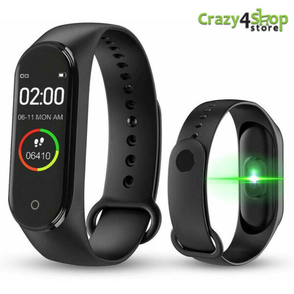 SMARTWATCH OROLOGIO M 4 SMART BAND FITNESS TRACKER CARDIOFREQUENZIMETRO SPORT