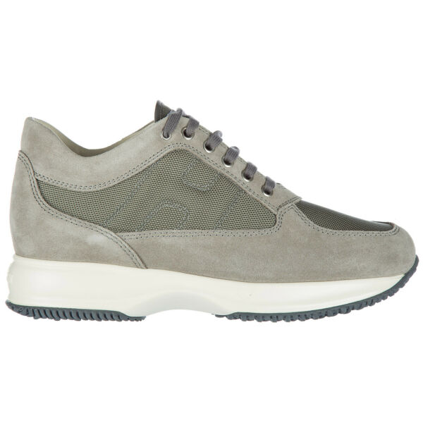 ItalieSneakers men Hogan  HXM00N00E10B2A9996 Grigio Gray suede shoes