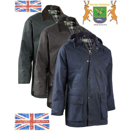 img-Horseman Padded Unisex Riding Wax Jacket Hunter Outdoor