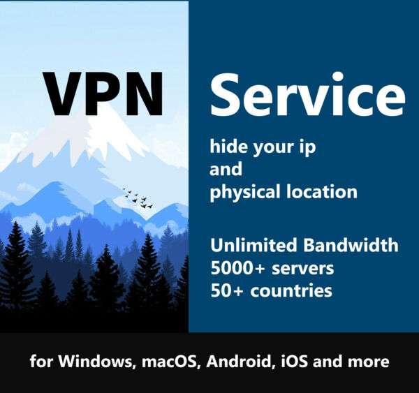 VPN Service 5 Years Subscription Windows, macOS, Android, iOS and more