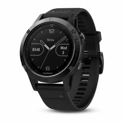 Kyпить Garmin fenix 5 Black Sapphire with Black Band Multisport GPS Watch 010-01688-10 на еВаy.соm