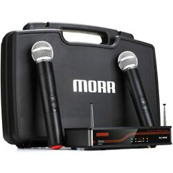 Kyпить EU-850 Dual UHF Fixed Frequency Handheld Wireless Microphone System with Case на еВаy.соm