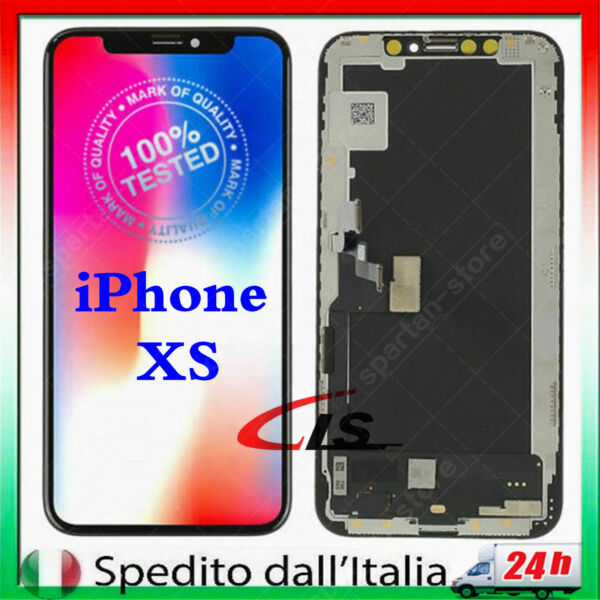 LCD Schermo Per iPhone XS OLED TIANMA Touch Vetro Display Screen NERO GLS