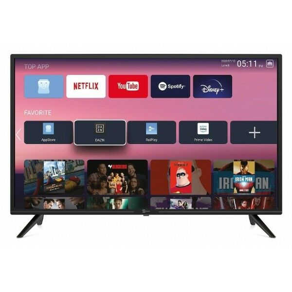 SMART TV 24 Pollici Televisore ZEPHIR LED FULLHD T2 Android WIFII HDMI USB