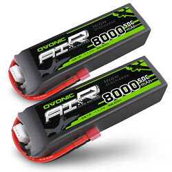 Kyпить 2X Ovonic 8000mAh 11.1V 50C 3S Lipo Battery for RC Car Truck Boat Airplane jet на еВаy.соm