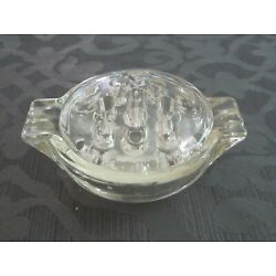 Kyпить 2-PC Flower Frog with handled Bowl – Clear Pressed Glass на еВаy.соm