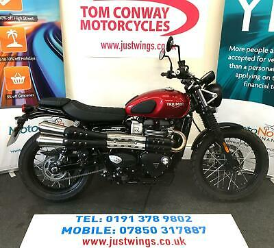 TRIUMPH STREET SCRAMBLER, 2019(69), 1 OWNER, ONLY 132 MILES, PERFECT, £7995