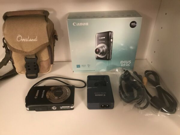Canon IXUS 117 HS - Fotocamera digitale + custodia + SD 2 Gb