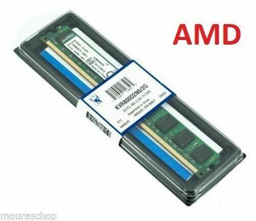 ram 2 giga KINGSTON DESKTOP DDR2 800MHz KVR800D2N6/2G PC2-6400 CL6 SOLO AMD!!!!