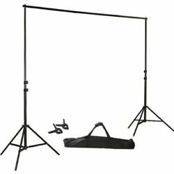 Kyпить BLACK 8 x 10 ft Photo Backdrop Stand Kit Studio Stage Background Party Wedding на еВаy.соm
