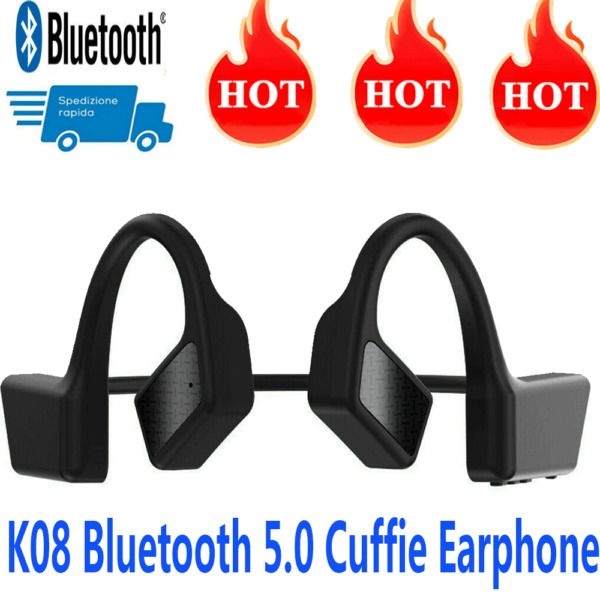 Auricolare Bluetooth Wireless Cuffie BT5.0 Auricolari Stereo Headset Gli sport