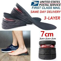 Men Women Invisible Height Increase Insoles Heel Lift Taller Shoe Inserts Pad US